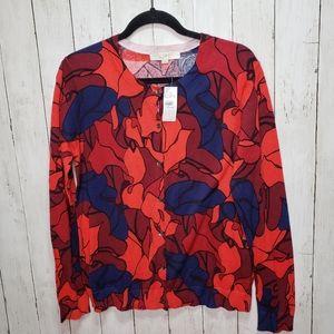New! Ann Taylor Loft Floral Print Cardigan Sweater
